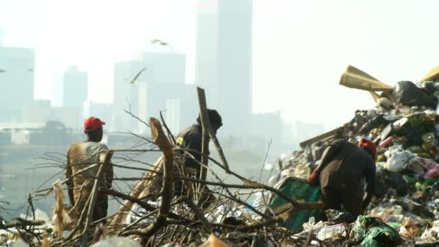 vídeos de stock, filmes e b-roll de garbage dump, johannesburg, south africa - depósito de lixo