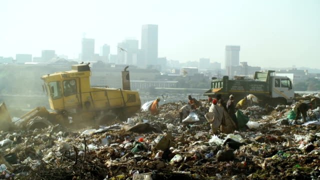 garbage dump, johannesburg, south africa - landfill stock videos & royalty-free footage