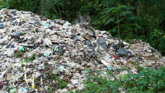 garbage dump landfill pollution rotting methane health hazard - rubbish dump stock videos & royalty-free footage