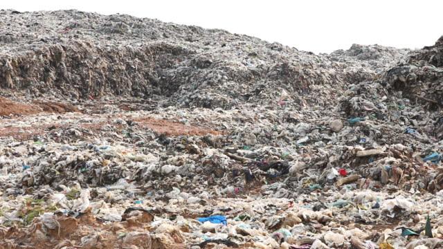 vídeos de stock, filmes e b-roll de depósito de lixo site - saco de lixo