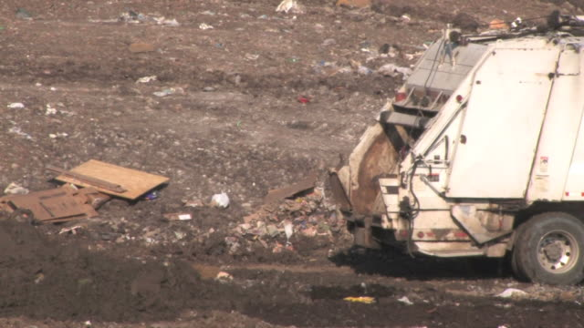 garbage dump - garbage truck stock videos and b-roll footage