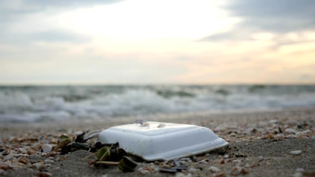 garbage on sandbeach - rubbish stock videos and b-roll footage