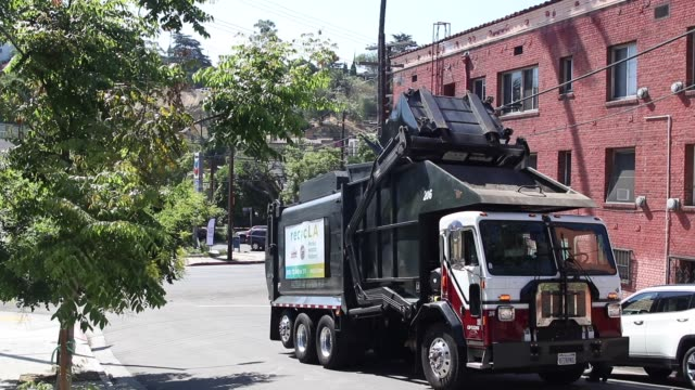 garbage truck - garbage truck stock videos and b-roll footage