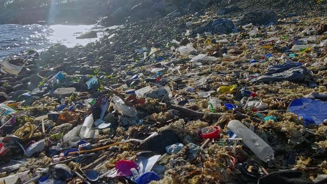 ガベージ - プラスチック汚染点の映像素材/bロール
