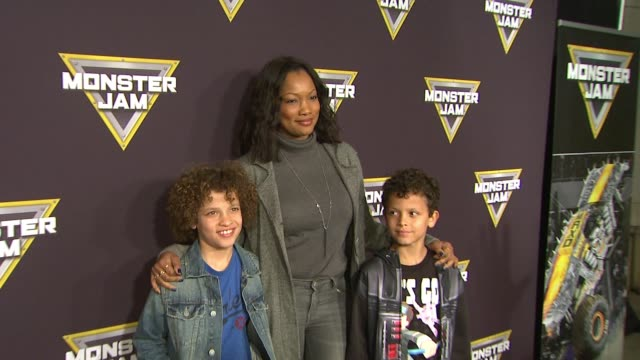 Garcelle Beauvais at Monster Jam Celebrity Night at Angel Stadium of Anaheim on January 16 2016 in Anaheim California