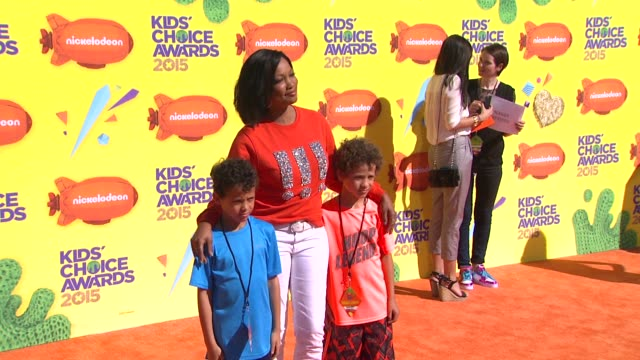 stockvideo's en b-roll-footage met garcelle beauvais at nickelodeon's 28th annual kids' choice awards at the forum on march 28 2015 in inglewood california - nickelodeon