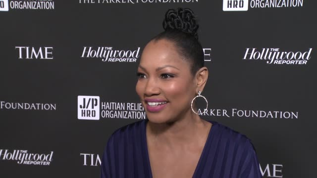 interview garcelle beauvais at sean penn core gala a gala dinner to benefit the organization formerly known as j/p hro and their lifesaving work at... - wiltern theatre stock videos and b-roll footage