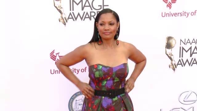 stockvideo's en b-roll-footage met garcelle beauvais at the 46th annual naacp image awards - arrivals at pasadena civic auditorium on february 06, 2015 in pasadena, california. - pasadena civic auditorium