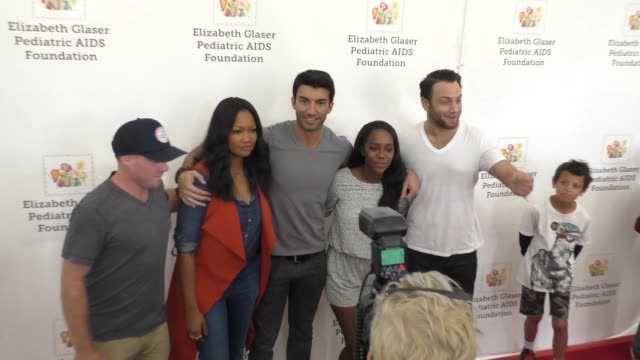 Garcelle Beauvais Justin Baldoni Aja Naomi King at the Elizabeth Glaser Pediatric AIDS Foundation 26th Annual A Time For Heroes Family Festival at...