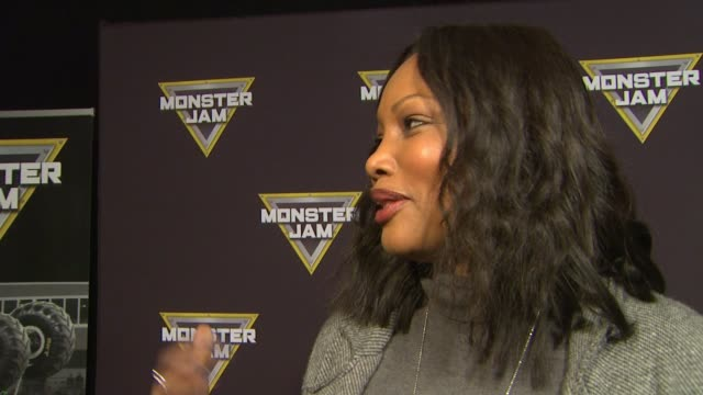 INTERVIEW Garcelle Beauvais on being excited for the event and taking her boys out at Monster Jam Celebrity Night at Angel Stadium of Anaheim on...