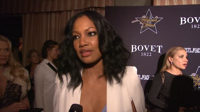 vídeos y material grabado en eventos de stock de interview garcelle beauvais on why she's excited to be at the 8th annual hollywood domino preoscar event how she first heard about apj and how she... - fiesta de los óscar