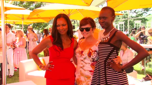 Garcelle Beauvais Tiffani Thiessen and Alek Wek at The SixthAnnual Veuve Clicquot Polo Classic In Support Of Liberty State Park at Liberty State Park...