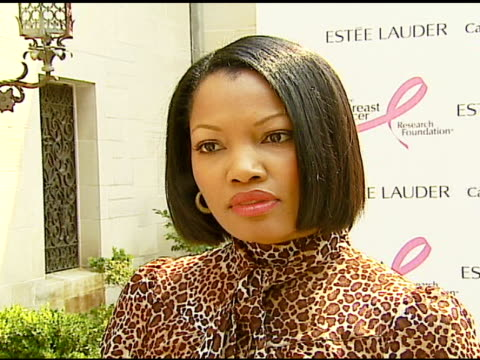 garcelle beauvaisnilon on why she's at the luncheon on whether she feels a responsibility as a celebrity to get involved and shed light on an issue... - aerin lauder stock videos and b-roll footage