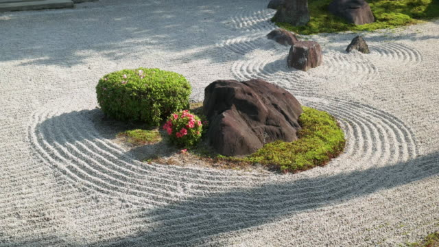 garden at japanese temple. kyoto, japan - kyoto stock videos and b-roll footage