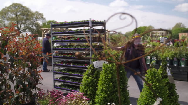 garden centre open during coronavirus lockdown as they sell some essential products moretononmarsh gloucestershire - selling stock videos & royalty-free footage