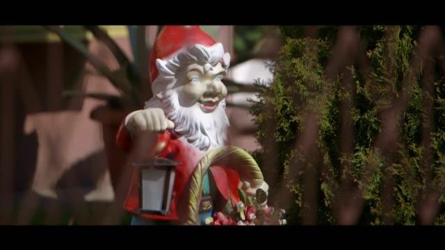 garden dwarf - matte image technique stock videos & royalty-free footage