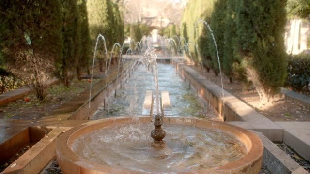 garden fountains - standing water yard stock videos & royalty-free footage