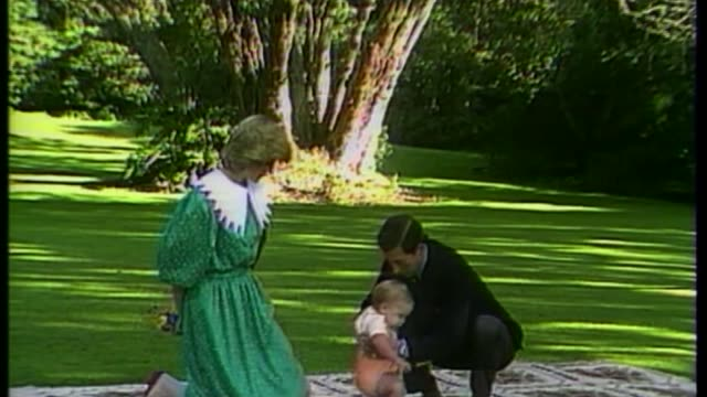 garden inspired by diana princess of wales opens at kensington palace garden inspired by diana princess of wales opens at kensington palace... - kensington palace video stock e b–roll