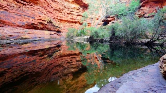 Tuin van Eden Waterhole bij Kings Canyon, Noordelijk Territorium, Australië