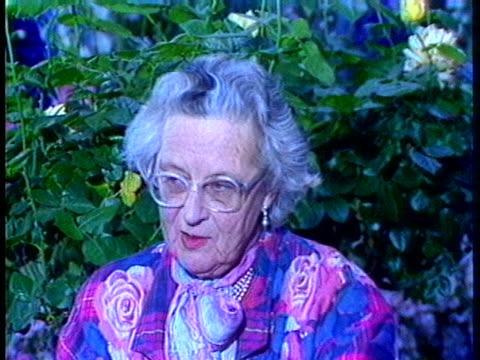 garden specialist rosemary verey describes the interlacing of low-growing plants. - flowerbed stock videos & royalty-free footage