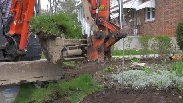 gardening and landscaping - construction vehicle stock videos & royalty-free footage