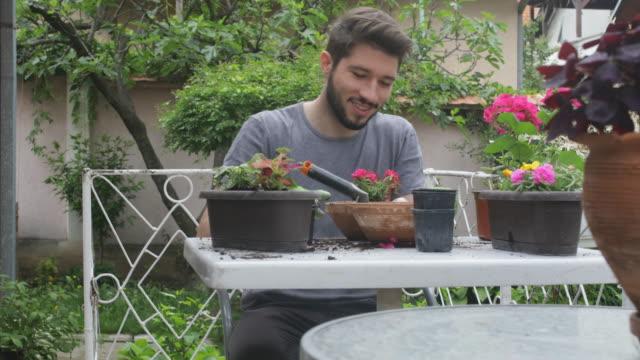 gardening - patio stock videos & royalty-free footage