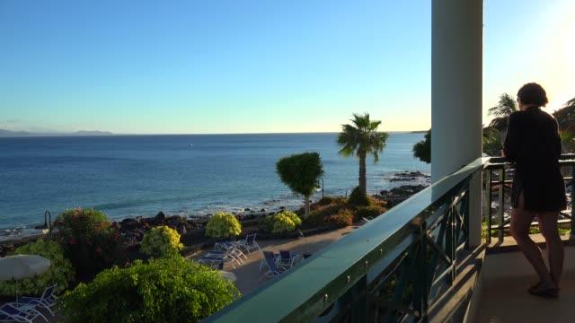 gardens of hotel natura palace, playa blanca, lanzarote, canary islands, spain, atlantic, europe - atlantic islands stock videos & royalty-free footage