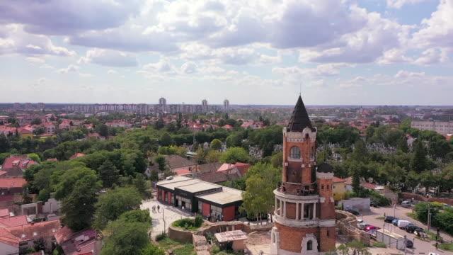 vídeos y material grabado en eventos de stock de torre gardos o torre del milenio, también conocida como kula sibinjanin janka. zemun. belgrado, serbia - cultura húngara