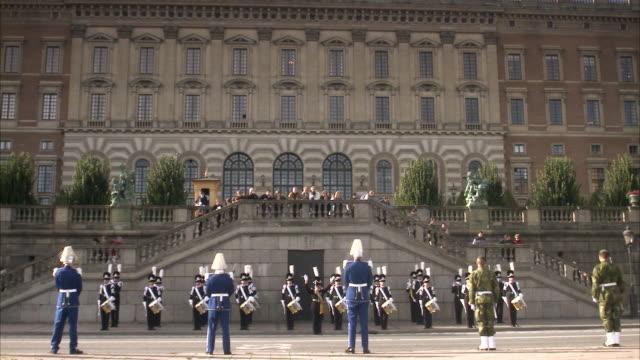 Gards outside the Stockholm palace Sweden.