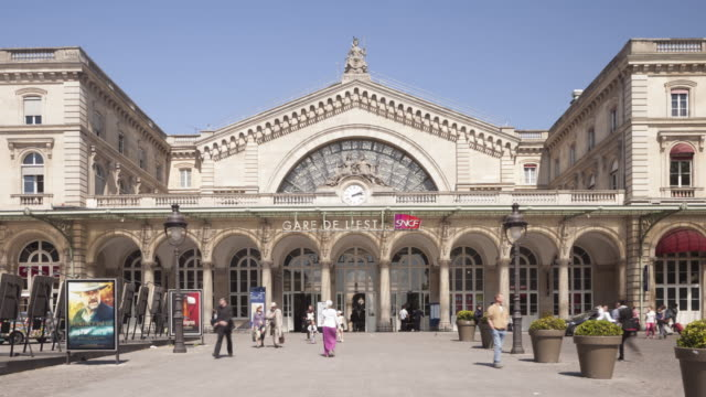gare de l'est in paris, france. - station stock videos and b-roll footage