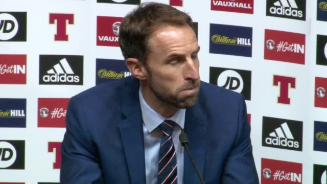 gareth southgate described harry kane's lastgasp hampden equaliser as a major moment for his england team as scotland boss gordon strachan saw his... - ゴードン ストラハン点の映像素材/bロール