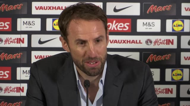 Gareth Southgate gives first press conference as Interim England Manager ENGLAND Staffordshire St George's Park INT Gareth Southgate press conference...