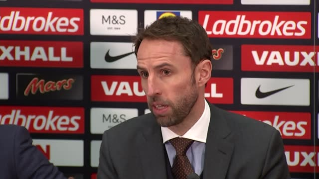 Gareth Southgate holds first press conference as England Manager ENGLAND London Wembley Stadium PHOTOGRAPHY** Andy Walker Martin Glenn Gareth...
