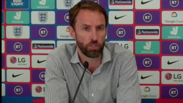 """gareth southgate saying """"if facts change"""" about harry maguire's legal case then he will review the decision to retain him in the england squad - work tool stock videos & royalty-free footage"""