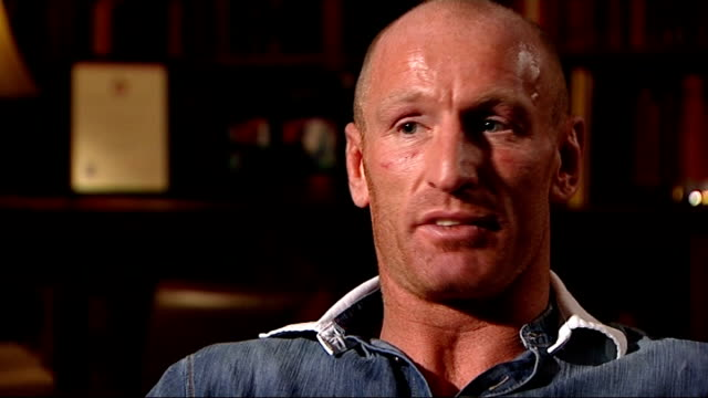 gareth thomas speaks about his decision to go public about his sexuality wales int gareth thomas interview sot discusses reason for 'going public'... - gareth thomas rugby player stock videos & royalty-free footage