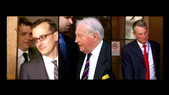 mi6 kept evidence from police lib / tx westminster coroners' court screen three pathologists dr benjamin swift dr ian calder and dr richard shepherd... - shepherd stock videos & royalty-free footage