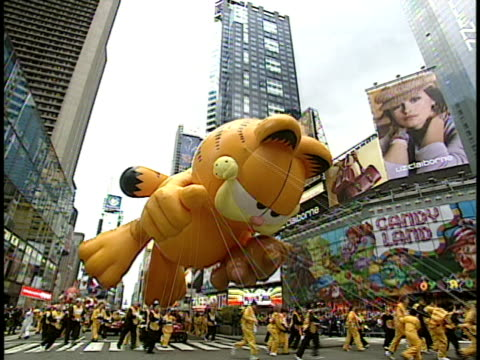 Garfield parade balloon on Thanksgiving Day parade New York City New York USA