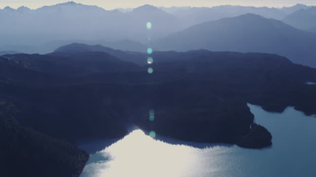 AERIAL Garibaldi Lake and mountains at Garibaldi Provincial Park / Squamish, British Columbia, Canada