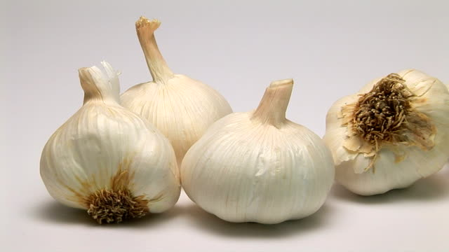 garlic - five objects stock videos & royalty-free footage