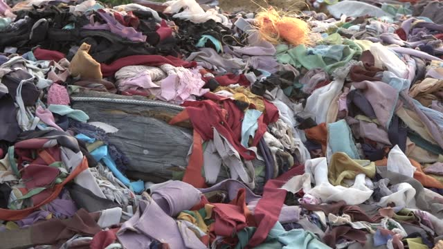 garment factory wastes - clothing stock videos & royalty-free footage