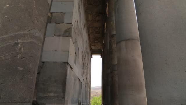 garni, entrance of the greek temple, 3rd century b.c. - 3rd century bc stock videos & royalty-free footage