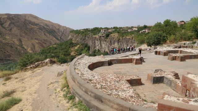 vídeos de stock e filmes b-roll de garni, remains of the surb sion church 7th century a.d. - por volta do século 7 dc