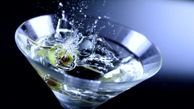 garnishing martini (super slow motion) - martini stock videos & royalty-free footage