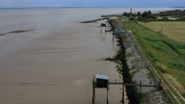 garonne river estuary, nouvelle-aquitaine, france - gironde estuary stock videos and b-roll footage
