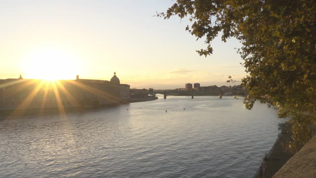 garonne - sunset - toulouse stock videos & royalty-free footage