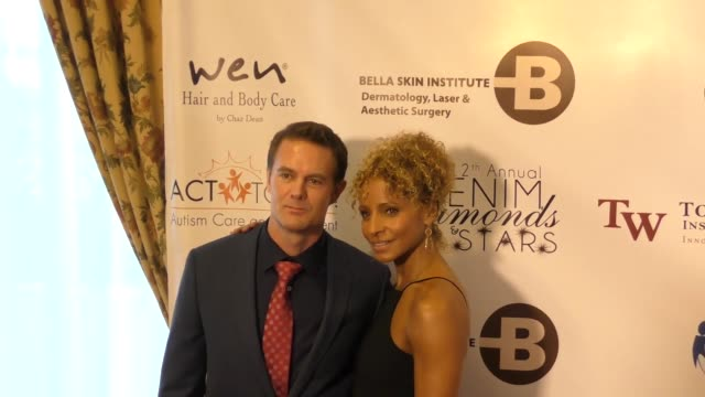 garret dillahunt michelle hurd at the 12th annual denim diamonds and stars on october 22 2017 in westlake village california - westlake village california stock videos & royalty-free footage