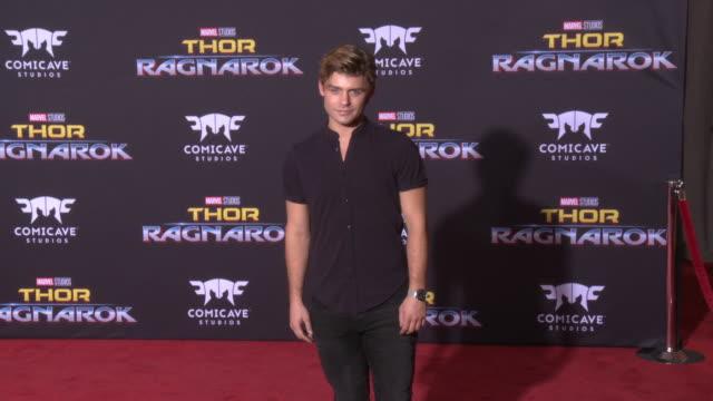 garrett clayton at the thor ragnarok premiere at the el capitan theatre on october 10 2017 in hollywood california - thor: ragnarok stock videos & royalty-free footage