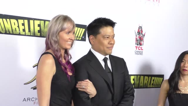 garrett wang at the unbelievable!!!!! premiere at tcl chinese theatre in hollywood in celebrity sightings in los angeles, - tcl chinese theatre stock videos & royalty-free footage
