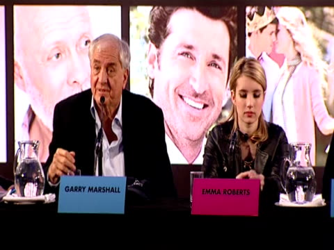 garry marshall explains how they cast the girls first and asked them what guys they would like, with anne hathaway she told him she used to have a... - topher grace stock videos & royalty-free footage