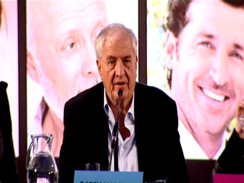 garry marshall talks about his best romantic comedy he says breakfast at tiffanys because of the music in it as well as audrey at the valentine's day... - romantic comedy stock videos and b-roll footage